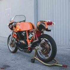 Orange crush: Hiro Ishihara's immaculate Laverda SF2, transformed by Cascade Cafe Racer.