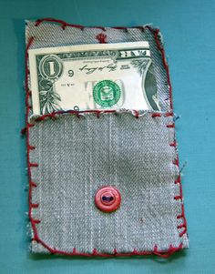 kids sewing projects | Lunch money wallet - My Little Hen