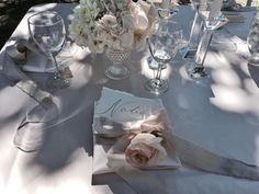 calligraphy on hand torn paper for a luxurious table design