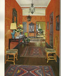 Vintage Home Decorating, 1970s, bright colors