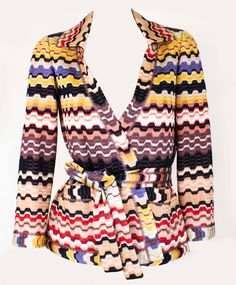 Missoni SOLD! Viscose typical print knit shades of apricot/black/coral/dusky pink/lilac, Cost £1100 in 2012. - http://www.pandoradressagency.com/latest-arrivals/product/missoni-5/