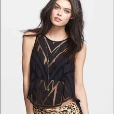 New Free people mesh tank Button down back Free People Tops Tank Tops