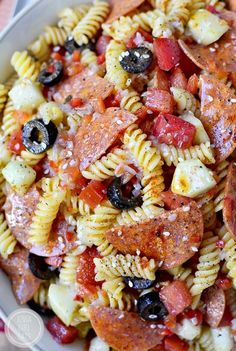The BEST Pasta Salad is an old family recipe. Simple and simply the best (easily made gluten-free, too!) #glutenfree   iowagirleats.com