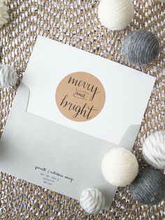 Oh The Sweet Things: Merry and Bright #diy #calligraphy #christmas #cards