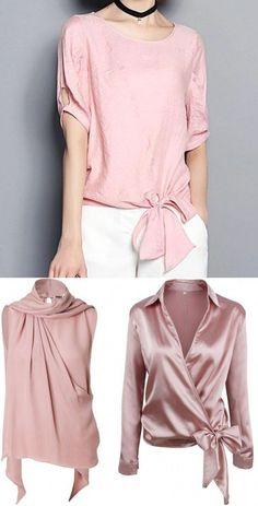 Moda anti-idade: Primavera romântica - Blusinha rosé ⋆ De Frente Para O Mar Blouse Styles, Blouse Designs, Casual Chic, Classy Outfits, Casual Outfits, Umgestaltete Shirts, Hijab Fashion, Fashion Dresses, Hijab Stile