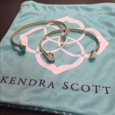 Kendra Scott Bracelets In perfect condition I just don't wear them anymore. Both are adjustable to fit any size. $25 each. Open to offers. ☺️ Kendra Scott Jewelry Bracelets