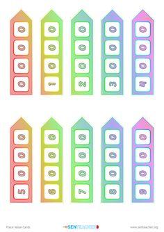 Place Value Cards ⋆ Printable Visual Aid Printable Cards, Printables, Place Value Cards, Math Websites, Place Values, Math Resources, Maths, Mathematics, Teacher