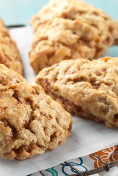Banana-infused scones with sweet and salty toffee crunch - King Arthur Mousse, Savory Scones, Overripe Bananas, Overripe Banana Recipes, Crunch, King Arthur Flour, Sweet And Salty, Breakfast Recipes, Scone Recipes