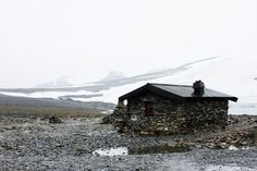 cabinporn: Stone cabin at the foot of Galdhøppigen in Lom,...