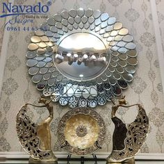 Hall Mirrors, Living Room Mirrors, Living Room Art, Living Room Designs, Earth And Space Science, Earth From Space, Peacock Bathroom, Venetian Mirrors, Decorative Plates