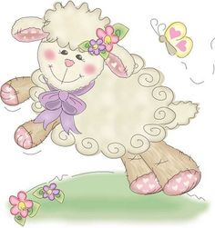 cute little lamb Brother Innovis, Sheep Cards, Cute Sheep, Sheep And Lamb, Cute Clipart, Vintage Easter, Digi Stamps, Illustrations, Cute Illustration