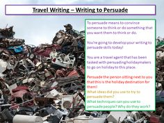 Students act as a travel agents to persuade other students to visit a particular holiday destination. Students look at persuasive techniques and apply them. Aqa English Language, Going On Holiday, Holiday Destinations, Teaching Resources, Classroom Ideas, Something To Do, Acting, Students, How To Apply