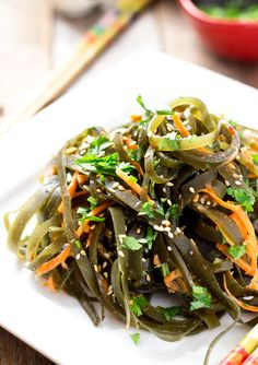 Kombu is edible kelp from the family Laminariaceae and is widely eaten in East Asia. It may also be referred to as konbu, dashima or haidai.