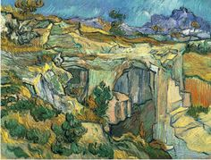 """Entrance to a Quarry near Saint Remy, Vincent van Gogh 1889 """