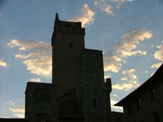 Bell Towers of San Gimignano at sunset