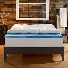 Sleep Innovations 4-Inch Dual Layer Mattress Topper - Gel Memory Foam and Plush Fiber. 10-year limited warranty. Queen Size -- Special offer just for you. : Furnitures for Home Decor