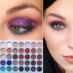 looks like a Morphe pallet Purple poppin eyes . looks like a Morphe Pink Eye Makeup, Makeup Eye Looks, Natural Eye Makeup, Eyeshadow Looks, Skin Makeup, Eyeshadow Makeup, Pink Eyeshadow, Makeup Brush, Easy Makeup