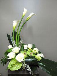 Flower Arrangement for Urn 2203-2 Florist Montreal Abaca