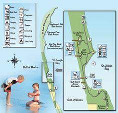 Map of T.H. Stone Memorial St. Joseph Peninsula State Park voted Americas best state park