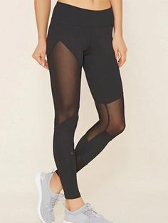Look and feel your best in Forever 21 activewear and workout clothes for women! Get fit in our sports bras, leggings, shorts, crop tops & more. Mesh Insert Leggings, Crop Top And Leggings, Leggings Mode, Sports Leggings, Workout Leggings, Leggings Fashion, Mesh Leggings, Cut Out Leggings, Cheap Leggings