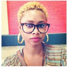TWA hairstyles are really popular right now as more women big chop while going natural. Styles may appear to be limited initially, but not anymore. Twa Hairstyles, Natural Afro Hairstyles, Twa Haircuts, Black Hairstyles, Hairdos, Short Haircuts, Big Chop, Blonde Twa, Teeny Weeny Afro