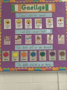 Class Displays, School Displays, Classroom Displays, Classroom Layout, Classroom Organisation, Primary Teaching, Primary School, Irish Proverbs, Irish Language