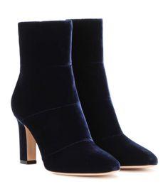 mytheresa.com - Bottines en velours - Luxe et Mode pour femme - Vêtements, chaussures et sacs de créateurs internationaux