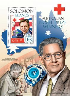 SLM 14207 b Nobel prize winners (Barry Marshall) Vanuatu, Commonwealth, Nobel Prize Winners, Solomon Islands, Croissant, Postage Stamps, Sweden, Connection, Baseball Cards