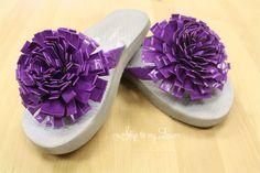 Duct Tape Flower Flip Flops from SkipToMyLou
