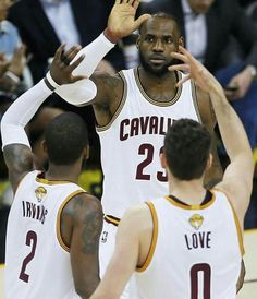 "LeBron "" Bron Bron "" James & Kyrie Irving And My Kevin Love ..."