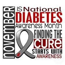 Diabetes Awareness Month-November. Always thought it was ironic that  my aunt that lost her fight with diabetes birthday is In November.