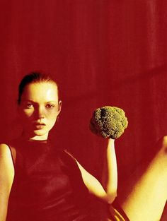 Kate with Broccoli, 1996
