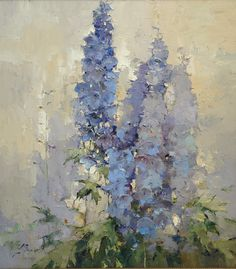 Delphiniums against sky by Alexi Zaitsev (Russia)