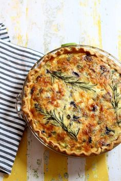 ASPARAGUS, LEEK AND PURPLE CARROT QUICHE