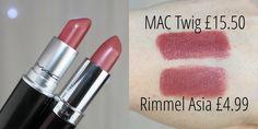 Five Kylie Jenner MAC Drugstore Lipstick Dupes - more_make_up_pintennium Lipstick For Fair Skin, Lipstick Art, Lipstick Swatches, Lipstick Colors, Lip Colors, Lipstick Guide, Fall Lipstick, Mac Twig Dupe, Mac Twig Lipstick Dupe