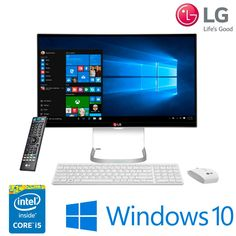 Computador All in One LG com Intel® Core™ i5-5200U, Tela IPS 23,8″ Full HD, 4GB Memória, 500GB HD, Conector de TV e Windows 10 – 24V550-G.BJ31P1 – LG
