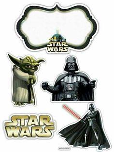 Theme Star Wars, Star Wars Party, Lego Star Wars, Imprimibles Star Wars Gratis, Free Printable Invitations, Free Printables, Star Wars Cake Toppers, Anniversaire Star Wars, Cupcake Cake Designs