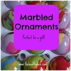 Marbled Ornaments -