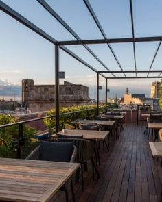 Right in the thick of the action, Hotel 1898's rooftop terrace overlooks La Ramblas. #Jetsetter
