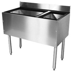 """Glastender C-CBA-36R Cocktail Unit Combo Ice Bin 36"""" with Right Bottle Well"""