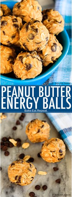 These 4 ingredient peanut butter energy balls are super quick and easy to make, and are a perfect snack or addition to the lunchbox!