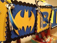Batman happy birthday banner by MyLittleGaggle on Etsy, $38.00