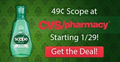 CVS: Scope Mouthwash Only 49¢ Each Starting 1/29 – Print Coupons Now!