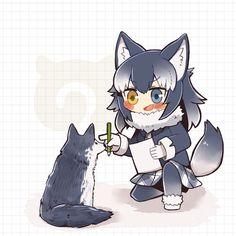 Anime Wolf Girl, Anime Girl Neko, Anime Child, Cute Anime Character, Character Art, Kawaii Neko Girl, Lobo Anime, Anime Art Fantasy, Kemono Friends