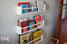 Drewniana półka na książki, książeczki styl skandynawski biała Biała Podlaska - image 1