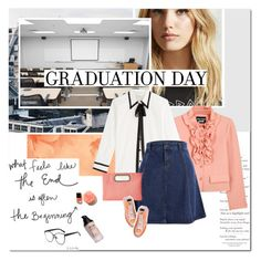 """#graduation"" by undici ❤ liked on Polyvore featuring Forever 21, Boutique Moschino, Marc Jacobs, Jessica McClintock and Converse"