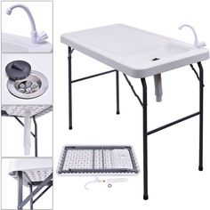 This is our Folding Fishing table which makes cleaning fish and wild game easy. It also could be used clean different meats, fruits and vegetables. It can fold easily and lightweight and you could take to camping, picnics and almost any kind of outdoor activity.   eBay!