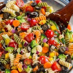 Pasta Recipes Garden Veggie Pasta Salad With Rotini Pasta, Grape Tomatoes, English Cucumber, B… Summer Pasta Salad, Summer Salads, Veggie Pasta Salads, Healthy Pasta Salad, Simple Pasta Salad, Tri Color Pasta Salad, Vegetarian Pasta Salad, Vegetable Salad Recipes, Best Pasta Salad