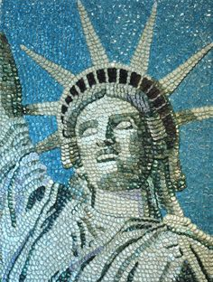 Pictures of bottle caps - The Statue of Liberty by Molly Bee Wright