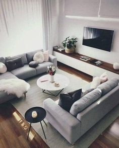 Stunning open living room with DelightFULL lighting design # . Stunning open living room with DelightFULL lighting design # . - Breathtaking open living room with DelightFULL lighting design Cozy Living Rooms, Living Room Grey, Living Room Decor, Living Spaces, Decor Room, Bedroom Decor, Home Decor, Living Room With Stairs, Wall Decor